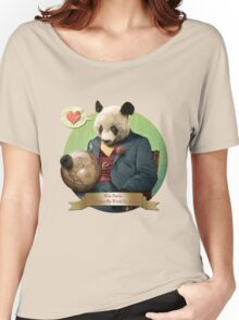 Wise Panda: Love Makes the World Go Around! Women's Relaxed Fit T-Shirt