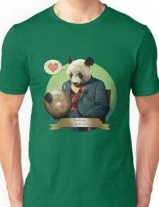 Wise Panda: Love Makes the World Go Around! Unisex T-Shirt