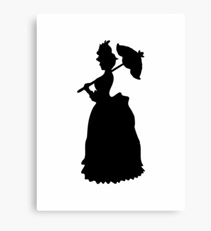 Victorian Woman - black & white gown Canvas Print