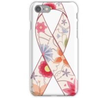 Pink ribbon vintage iPhone Case/Skin