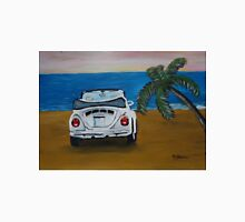 The White Volkswagen Bug At The Beach T-Shirt