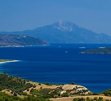 Athon island and beaches in greece by jordanrusev