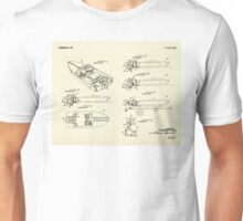 Wooden Boat  Outboard Motorboat with Inboard Mount-1972 Unisex T-Shirt
