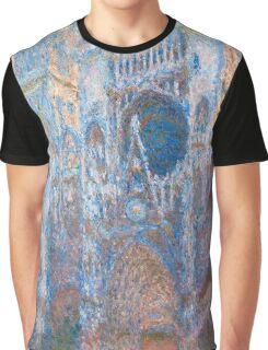 1894-Claude Monet-Rouen Cathedral, West Façade-65 x 100 Graphic T-Shirt