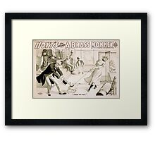 Performing Arts Posters Hoyts comic whirlwind A brass monkey a satire on superstition 1246 Framed Print