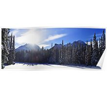 A Frozen Bow Valley River Poster