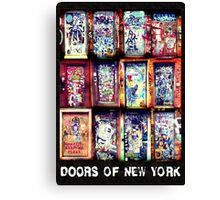 Graffiti Doors of New York City Canvas Print