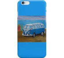 The Vw blue Volkswagen Bulli surfbus  iPhone Case/Skin