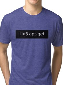 apt-get love Tri-blend T-Shirt