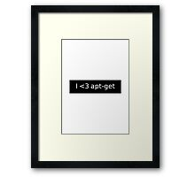 apt-get love Framed Print