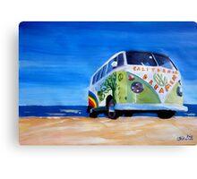 Surf Bus Series - California Dreaming VW Bus Canvas Print