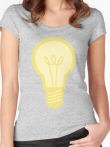 Yellow and Grey Light Bulb Women's Fitted Scoop T-Shirt