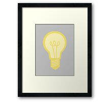 Yellow and Grey Light Bulb Framed Print