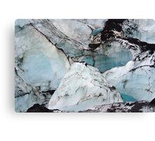 Glacier marble photo Canvas Print