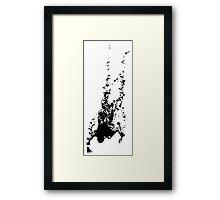 Falling Ink Framed Print