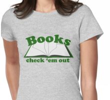 Books check em out Womens Fitted T-Shirt