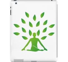 Person meditating under a tree  iPad Case/Skin