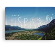 Let's Run Away VIII Canvas Print