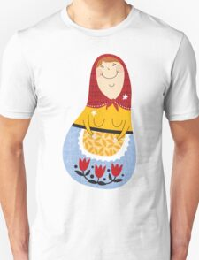 russian doll - blue Unisex T-Shirt