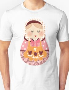 russian doll - orange Unisex T-Shirt