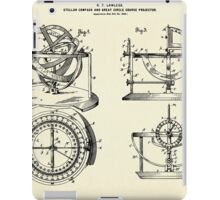 Stellar Compass and Great Circle Course Projector-1902 iPad Case/Skin