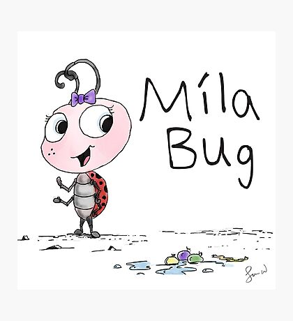 Mila Bug The Little Ladybird Photographic Print
