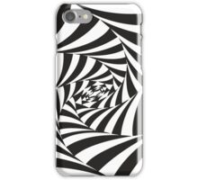 Abstract black and white drawing iPhone Case/Skin
