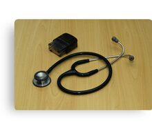 stethoscope and stamp Canvas Print