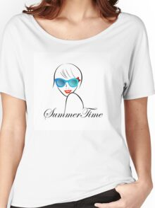 Lady with Style for summer time  Women's Relaxed Fit T-Shirt