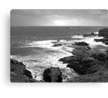 Sea Breeze- Black & White Canvas Print