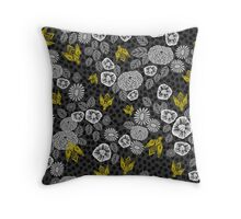 Bee Garden by Andrea Lauren Throw Pillow