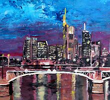 Frankfurt Main Germany - Mainhattan Skyline by artshop77