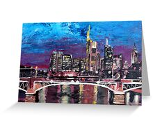 Frankfurt Main Germany - Mainhattan Skyline Greeting Card