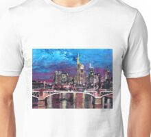 Frankfurt Main Germany - Mainhattan Skyline Unisex T-Shirt