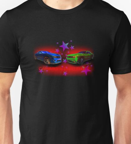 Camaro vs Challenger Controversy T-Shirt! Unisex T-Shirt