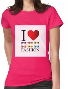 I love fashion with colorful eye wear  Womens Fitted T-Shirt