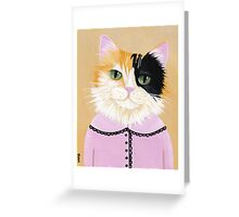 Pretty Fiona the Calico Cat Greeting Card