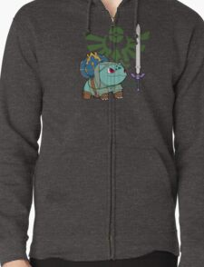 The Hero of Time (and grass) Zipped Hoodie