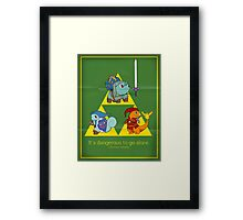 The Hero of Time (and grass) Framed Print