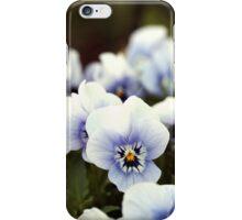 Pansies in garden iPhone Case/Skin