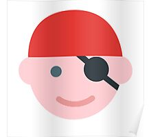 Pirate Kid Icon Poster