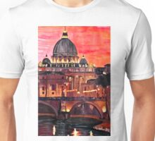 Eternal City - Rome, St Peter at Dusk Unisex T-Shirt