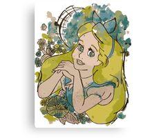 Alice in Watercolour Canvas Print
