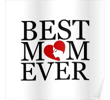 Best mom ever with face of a woman forming heart  Poster