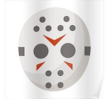 Hockey Mask Face Icon Poster