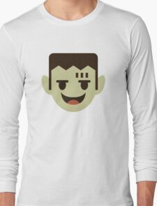 Frankenstein Cartoon Icon Face Long Sleeve T-Shirt