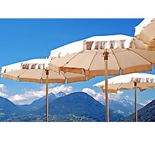 Parasols over the mountains Photographic Print
