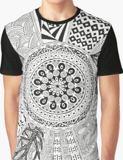 Black and white doodle Graphic T-Shirt