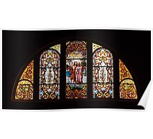 Stained Glass Windows - Baptism of Jesus Poster