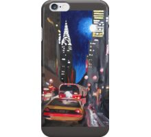 New York - Chrysler Building Street Scene iPhone Case/Skin